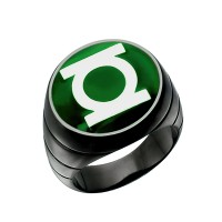 Green Lantern Inspired Silver Ring Blackest Night Style Jewelry