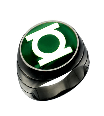 Green Lantern Inspired Silver Ring Blackest Night Style ...