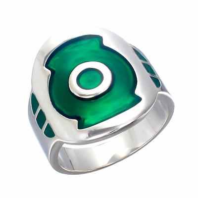 green lantern inspired ring flight silver ring jewelry