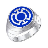 Blue Lantern Inspired Silver Ring Enameled Jewelry