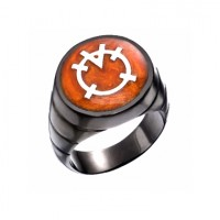 Orange Lantern Inspired Silver Ring Blackest Night Edition