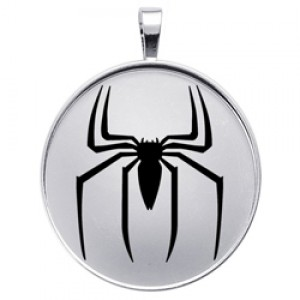 Spider-Man Inspired Charm Pendant Spider Logo Silver Jewelry