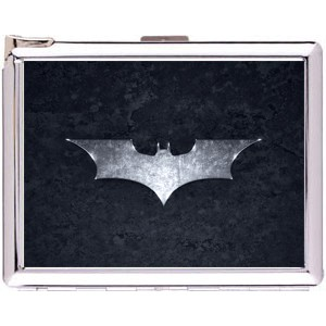Batman Logo Cigarette Case Stainless Steel with Lighter