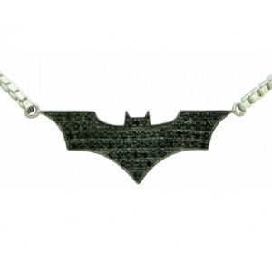 Batman Inspired Pendant The Dark Knight Silver Jewelry Necklace