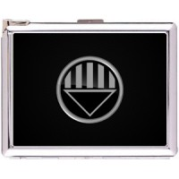 Black Lantern Cigarette Case Stainless Steel with Lighter
