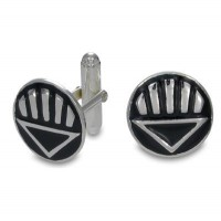 Black Lantern Inspired Cufflink Sterling Silver Jewelry