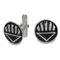 Black Lantern Inspired Cufflink Sterling Silver Jewelry