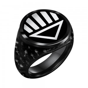 Black Lantern Inspired Silver Ring The Dead Shall Rise Edition