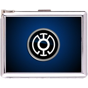 Blue Lantern Cigarette Case Stainless Steel with Lighter