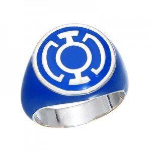 Blue Lantern Inspired Silver Ring Full Blue Jewelry