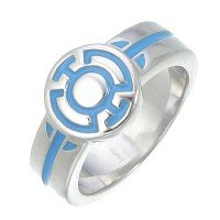 Blue Lantern Engagement Ring Silver Jewelry