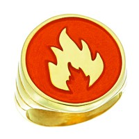 Captain Planet Fire Ring Silver Jewelry