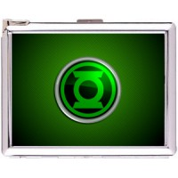 Green Lantern Cigarette Case Stainless Steel with Lighter