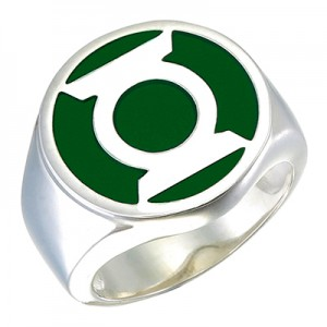 Green Lantern Inspired Silver Ring Green Edition Jewelry