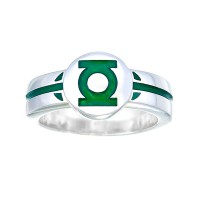 Green Lantern Inspired Silver Ring For Ladies Jewelry