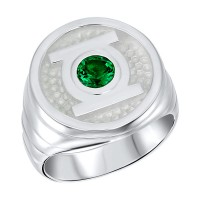Green Lantern Inspired Silver Ring Will Power Edition