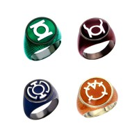 SUPER SAVER Green Lantern Inspired Snakeskin Silver Rings Set