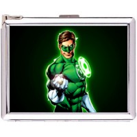 Hal Jordan Cigarette Case Stainless Steel with Lighter