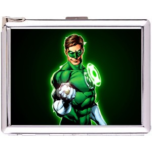Hal Jordan Cigarette Case Stainless Steel with Lighter