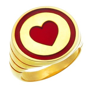 Captain Planet Heart Ring Silver Jewelry