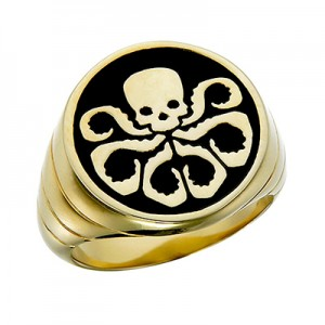 Hydra Ring Inspired Gold Plated Sterling Silver Jewelry
