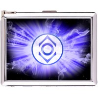 Indigo Tribe Cigarette Case Stainless Steel with Lighter