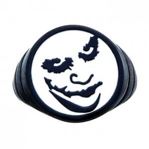 The Joker Inspired Silver Ring Jewelry Black Edition