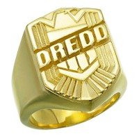 Judge Dredd Silver Ring Badge Jewelry