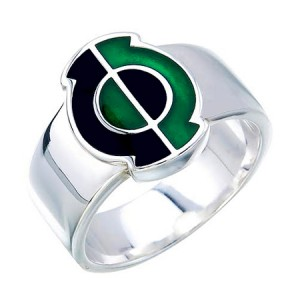 Green Lantern Inspired Silver Ring Kyle Rayner Style Jewelry V2