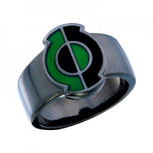 Green Lantern Inspired Silver Ring Kyle Rayner Style Jewelry V1