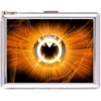 Orange Lantern Cigarette Case Stainless Steel with Lighter