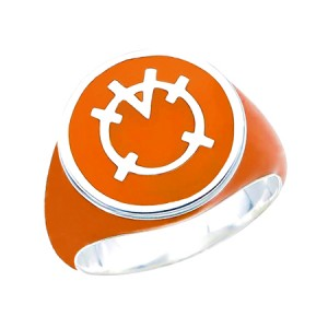 Orange Lantern Inspired Silver Ring Full Orange Jewelry