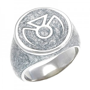 Phantom Lantern Inspired Silver Ring Glitter Edition