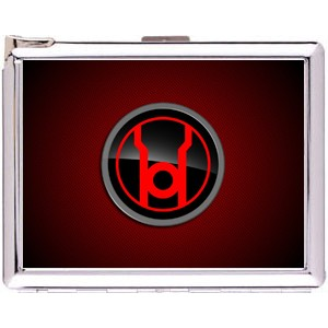Red Lantern Cigarette Case Stainless Steel with Lighter