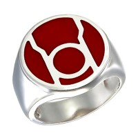 Red Lantern Inspired Silver Ring Red Edition Jewelry