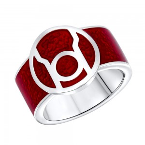 Red Lantern Inspired Ring Rage Edition Silver Jewelry