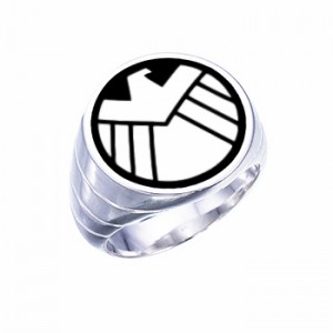Shield Agent Ring Inspired Sterling Silver Jewelry