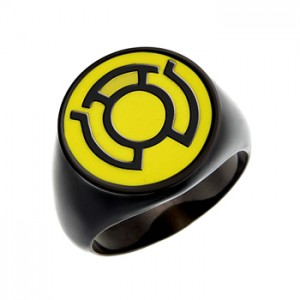 Sinestro Corps Inspired Silver Ring Blackest Night Edition