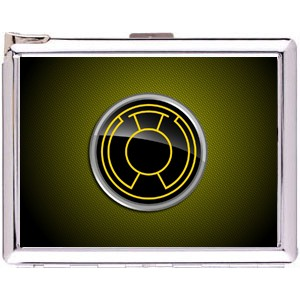 Sinestro Corps Cigarette Case Stainless Steel with Lighter