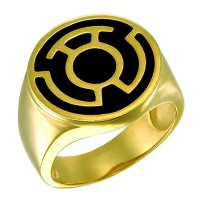 Sinestro Corps Inspired Silver Ring Gold Plated Jewelry