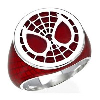 Spider-Man Inspired Silver Ring Marvel Jewelry