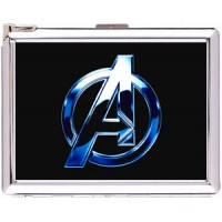 The Avengers Logo Cigarette Case Stainless Steel with Lighter