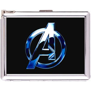 The Avengers Logo Cigarette Case Stainless Steel with Lighter