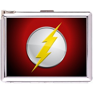The Flash Logo Cigarette Case Stainless Steel with Lighter