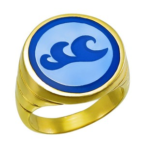 Captain Planet Water Ring Silver Jewelry