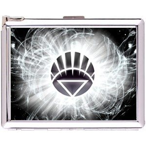 White Lantern Cigarette Case Stainless Steel with Lighter