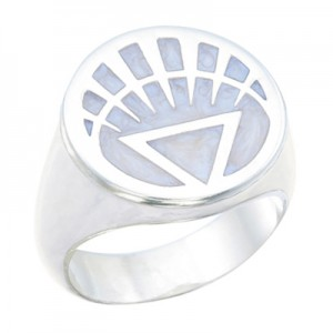 White Lantern Inspired Silver Ring Pearl White Jewelry