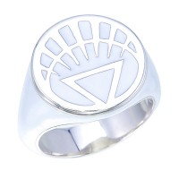 White Lantern Inspired Silver Ring Full White Jewelry