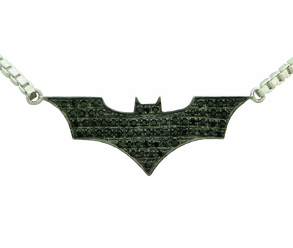 Batman inspired pendant the dark knight silver jewelry necklace mozeypictures Image collections