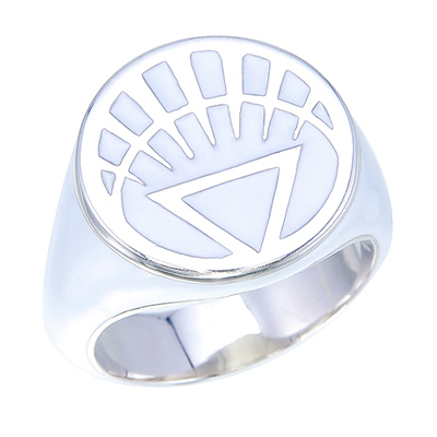 Plant-based White Resin White Lantern Movie Ring made in USA